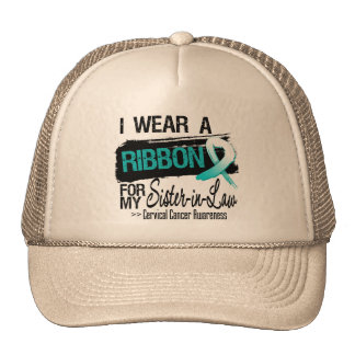 Cervical Cancer Ribbon For My Sister-in-Law Trucker Hat