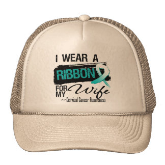 Cervical Cancer Ribbon For My Wife Trucker Hat