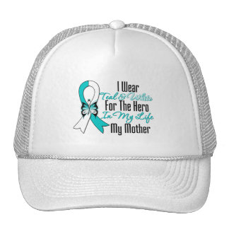 Cervical Cancer Ribbon My Hero My Mother Cap