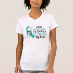 Cervical Cancer Ribbon My Hero My Sister T-shirt