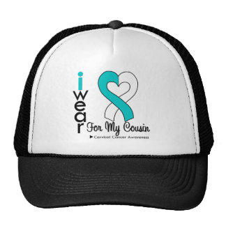 Cervical Cancer Ribbon Support Cousin Hats