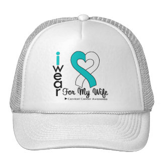 Cervical Cancer Ribbon Support Wife Cap