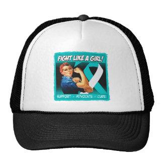 Cervical Cancer Rosie Riveter - Fight Like a Girl Trucker Hat