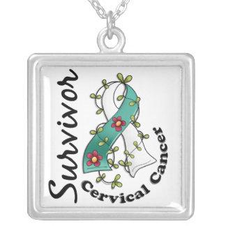 Cervical Cancer Survivor 15 Square Pendant Necklace