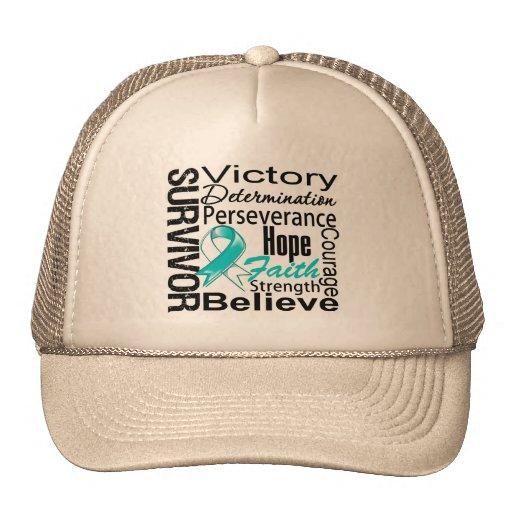 Cervical Cancer Survivor Collage Trucker Hats