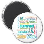 Cervical Cancer Survivor Collage.png 6 Cm Round Magnet