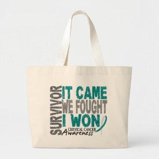 Cervical Cancer Survivor It Came We Fought I Won Jumbo Tote Bag
