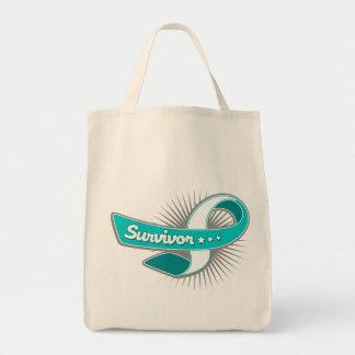 Cervical Cancer Survivor Ribbon Bags