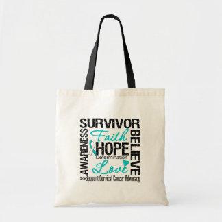 Cervical Cancer Survivors Motto Budget Tote Bag