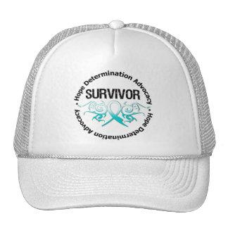 Cervical Cancer Tribal Ribbon Mesh Hats
