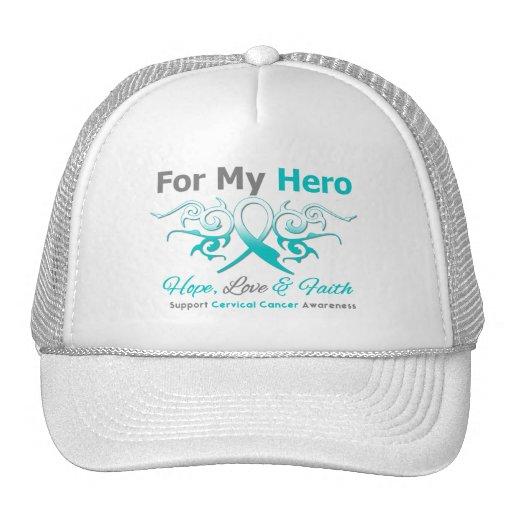 Cervical Cancer Tribal Ribbon Hero Hat