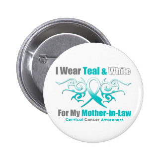 Cervical Cancer Tribal Ribbon Mother-in-Law 6 Cm Round Badge