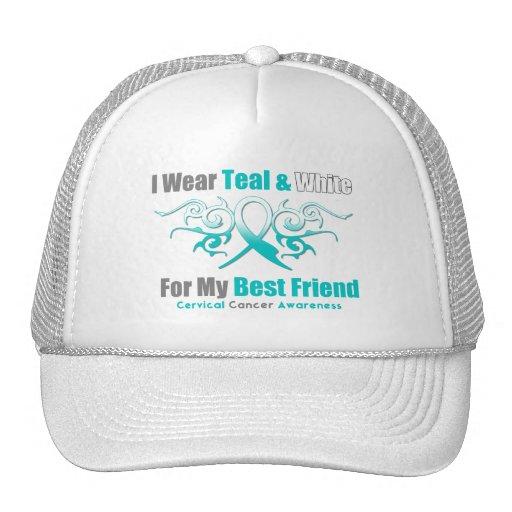 Cervical Cancer Tribal Ribbon Support Best Friend Mesh Hat