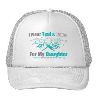 Cervical Cancer Tribal Ribbon Support Daughter Mesh Hat