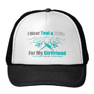 Cervical Cancer Tribal Ribbon Support Girlfriend Trucker Hat