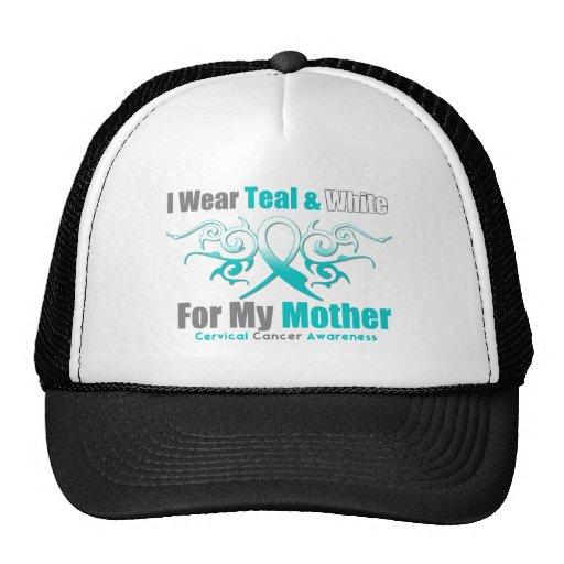 Cervical Cancer Tribal Ribbon Support Mother Trucker Hat