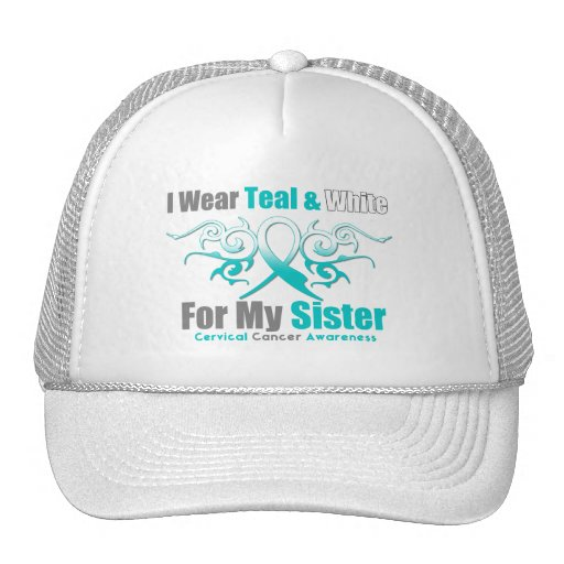 Cervical Cancer Tribal Ribbon Support Sister Hats