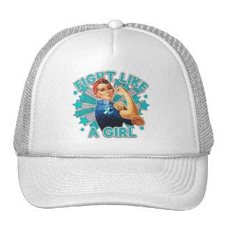 Cervical Cancer Vintage Rosie Fight Like A Girl Cap