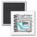 Cervical Cancer Warrior Collage Fridge Magnet