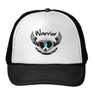 Cervical Cancer Warrior Fighter Wings Cap