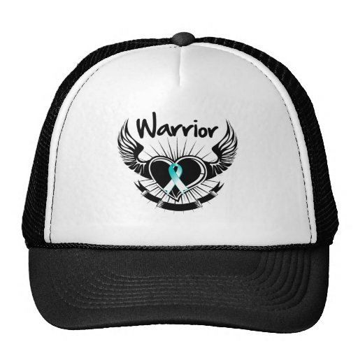 Cervical Cancer Warrior Fighter Wings Trucker Hats