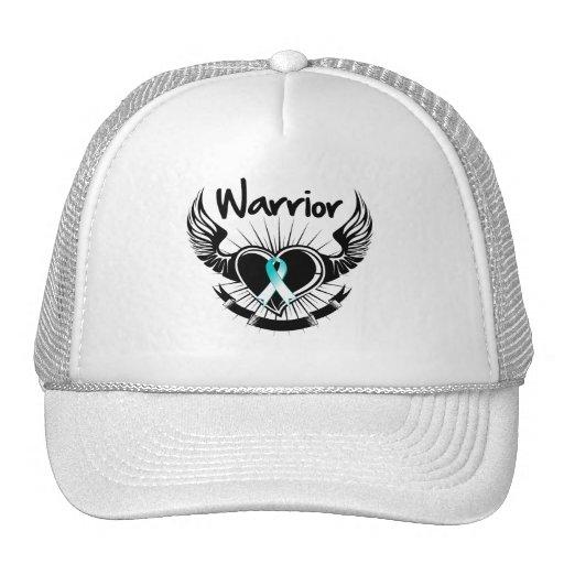 Cervical Cancer Warrior Fighter Wings Trucker Hat