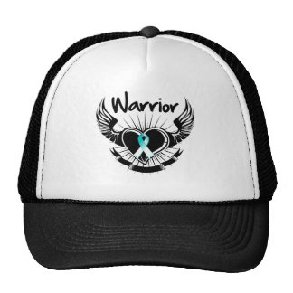 Cervical Cancer Warrior Fighter Wings Trucker Hats