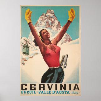 Cervinia, Breuil - Valle d'Aosta ,Italy,Ski Poster