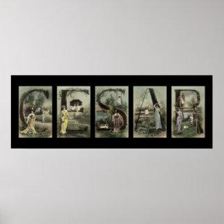 CESAR Alphabet Letter Name Art Print