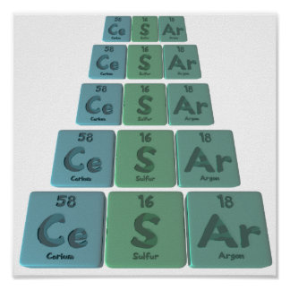 Cesar as Cerium  Sulfur Argon Print