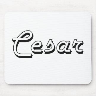 Cesar Classic Retro Name Design Mouse Pad