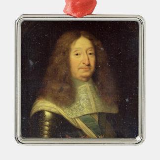 Cesar de Bourbon  Duke of Vendome and Beaufort Silver-Colored Square Decoration