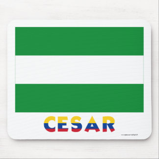 Cesar Flag with Name Mouse Pad