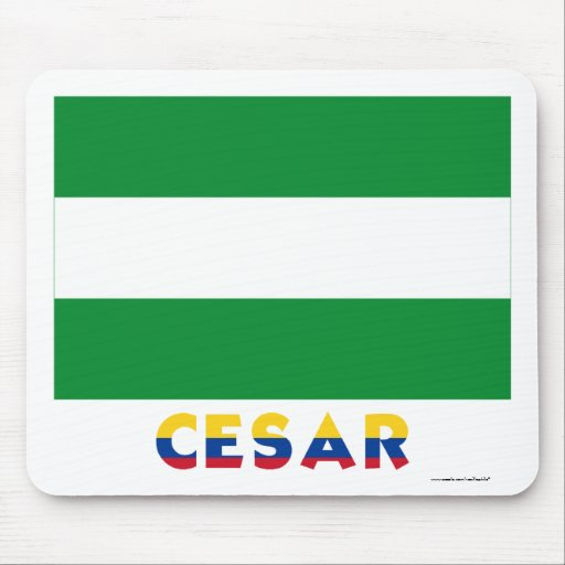 Cesar Flag with Name Mousepad