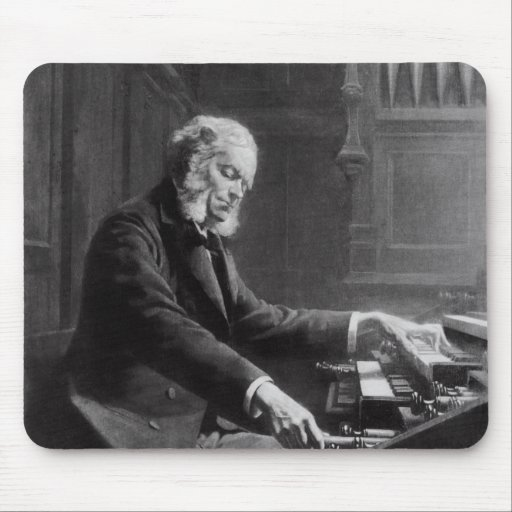 Cesar Franck at the console of the organ Mousepad