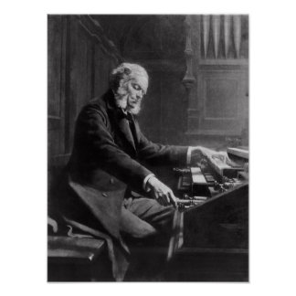 Cesar Franck at the console of the organ Poster