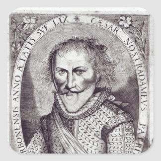 Cesar Nostradamus Square Sticker