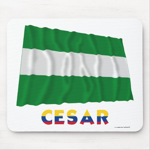 Cesar Waving Flag with Name Mouse Pad