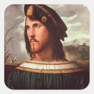 Cesare Borgia Duke of Valencia Square Stickers