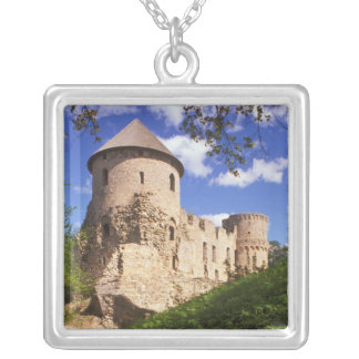 Cesis Castle in central Latvia. Silver Plated Necklace