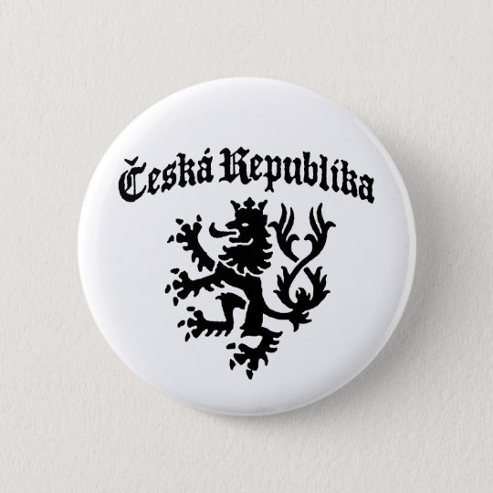 Ceska Republika 6 Cm Round Badge