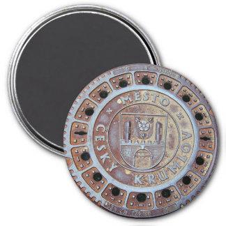 Cesky Krumlov Sewer Cover 7.5 Cm Round Magnet