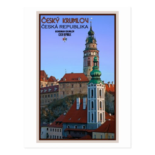 Cesky Krumlov - Two Towers Postcards