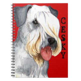 Cesky Terrier Color Block Note Books