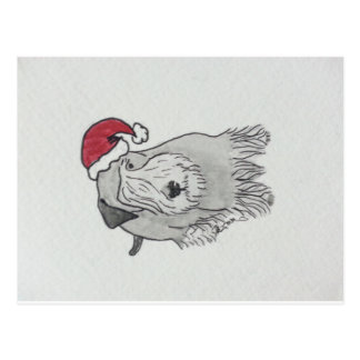 Cesky Terrier Santa Hat Postcards