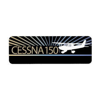 Cessna 150 Airplane Return Address Label