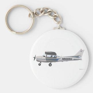 Cessna 172 Skyhawk Blue Key Ring