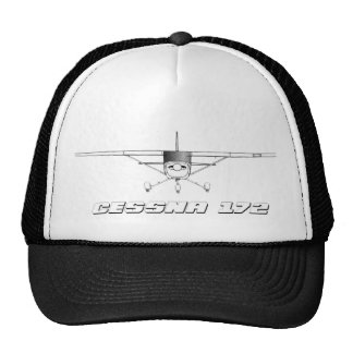 Cessna 172 Skyhawk with Front Line Drawing Cap