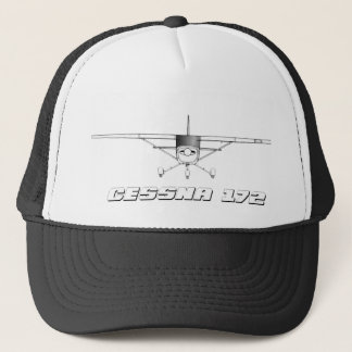 Cessna 172 Skyhawk with Front Line Drawing Trucker Hat