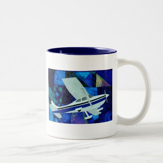 cessna 182 Two-Tone coffee mug